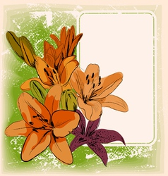 floral frame eps 10 vector image vector image