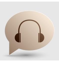 Headphones sign Brown gradient icon vector image vector image