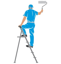 a man painting the wall vector image