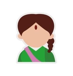 Cartoon woman icon Indian Culture design vector image