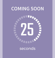 coming soon white timer time vector image vector image