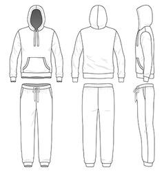 Sweat suit vector image