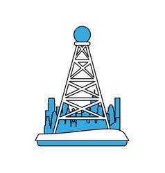 telecommunications antenna symbol vector image vector image