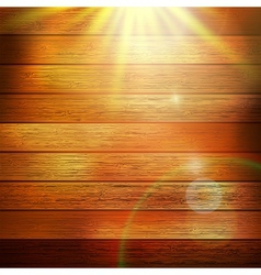 Wooden boards with sun light plus EPS10 vector image