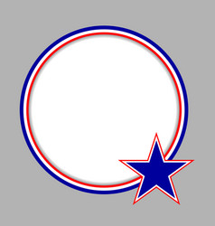 American characters flag round frame vector