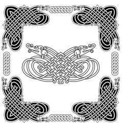 banner in the celtic style vector image