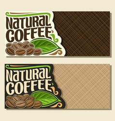 Banners for coffee vector