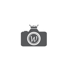 Best photography service letter w vector
