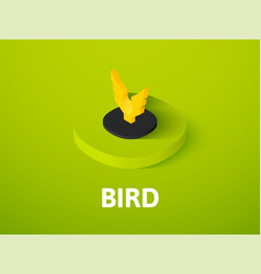 Bird isometric icon isolated on color background vector