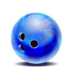 blue glossy multi-colored bowling ball isolated on vector image