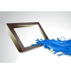 Blue splash vector image