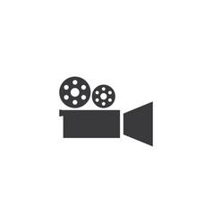 Camera movie icon vector