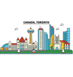 canada toronto city skyline architecture vector image
