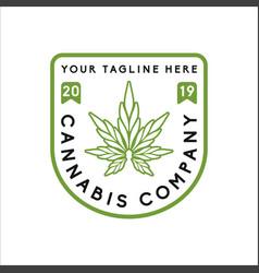 cannabis logo cbd logo design vector image