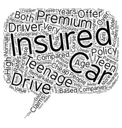 Car Insurance For Teens Is There A Cheaper Route vector