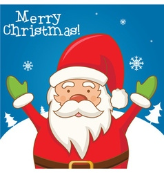 Cartoon character Santa Claus on a winter vector image