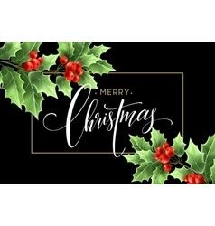 christmas decoration on chalk board vector image