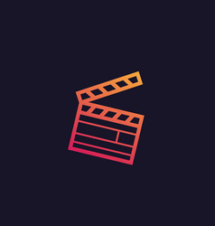 clapperboard icon art vector image