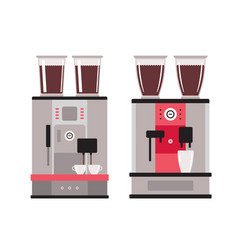 coffee machine set isolated on white background vector image