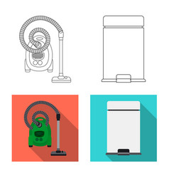 Design of cleaning and service icon set of vector