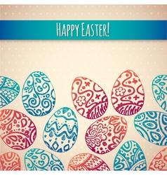 Eastern sketch eggs vector