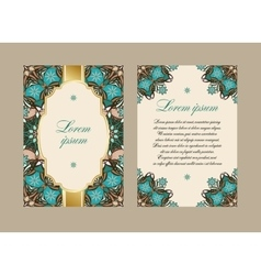 Elegant card with a floral pattern mandala vector
