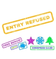 Entry Refused Rubber Stamp vector image