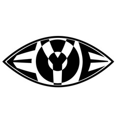 eye icon with the text the word eye inside vector image