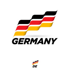 Flag germany dynamic culture celebration icon vector