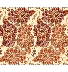 Floral seamless pattern in Indian mehndi style vector