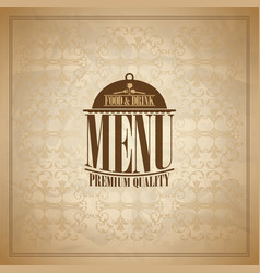 Food and drink retro paper menu design vector