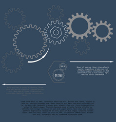 gears with on the grey background business and vector image