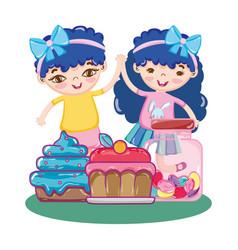 Girls birthday party vector