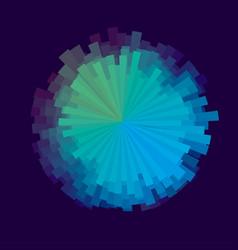 Glitch round design element vector