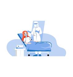 Global epidemic concept hospital worker in virus vector