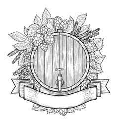 graphic beer design vector image