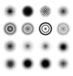 halftone round patterns circle dots gradient vector image
