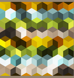 Hexagon grid seamless background vector