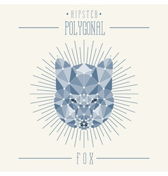 Hipster fox head vector image
