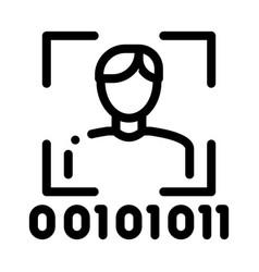Human binary code icon outline vector