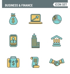 Icons line set premium quality of business vector image