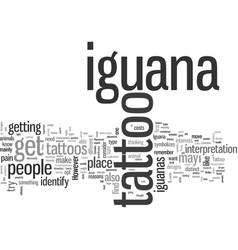 Iguana tattoo vector