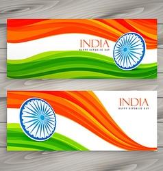 indian flag banners background vector image