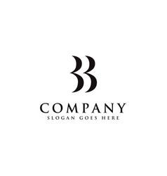 Initial letter b logo b and b monogram logo icon vector