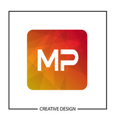 Initial letter mp logo template design vector