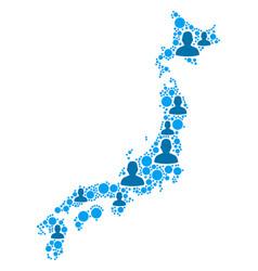 japan map population people vector image