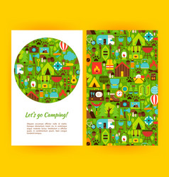 lets go camping flyer template vector image