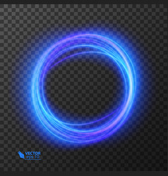 Light effect line gold circle glowing vector