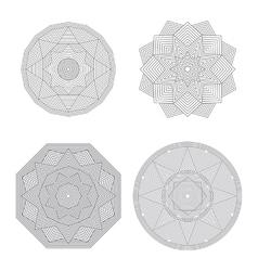 Lineart geometric ornamental templates set vector