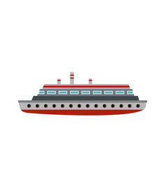 long ship icon flat style vector image